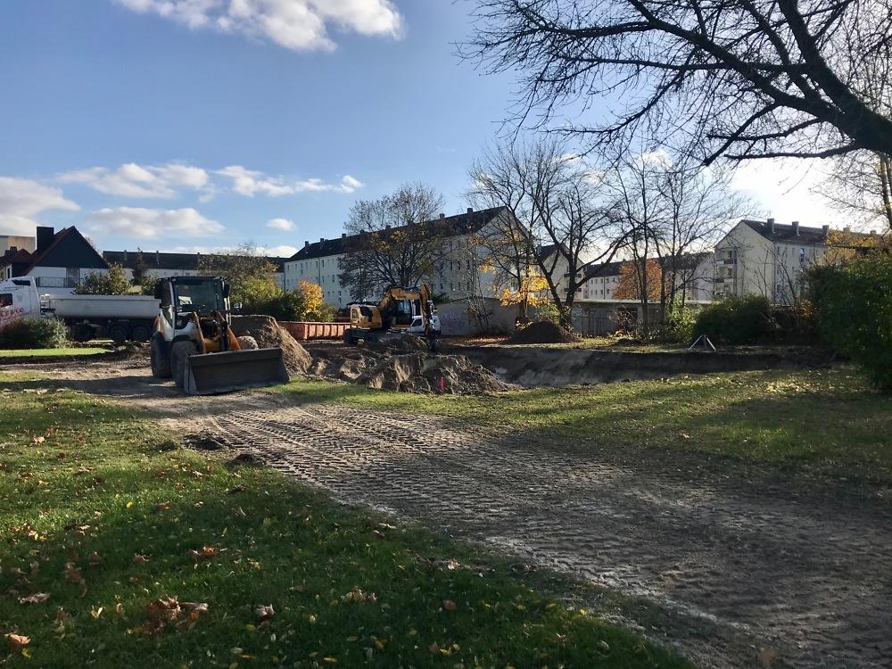 03.11.2020 der Bau hat begonnen