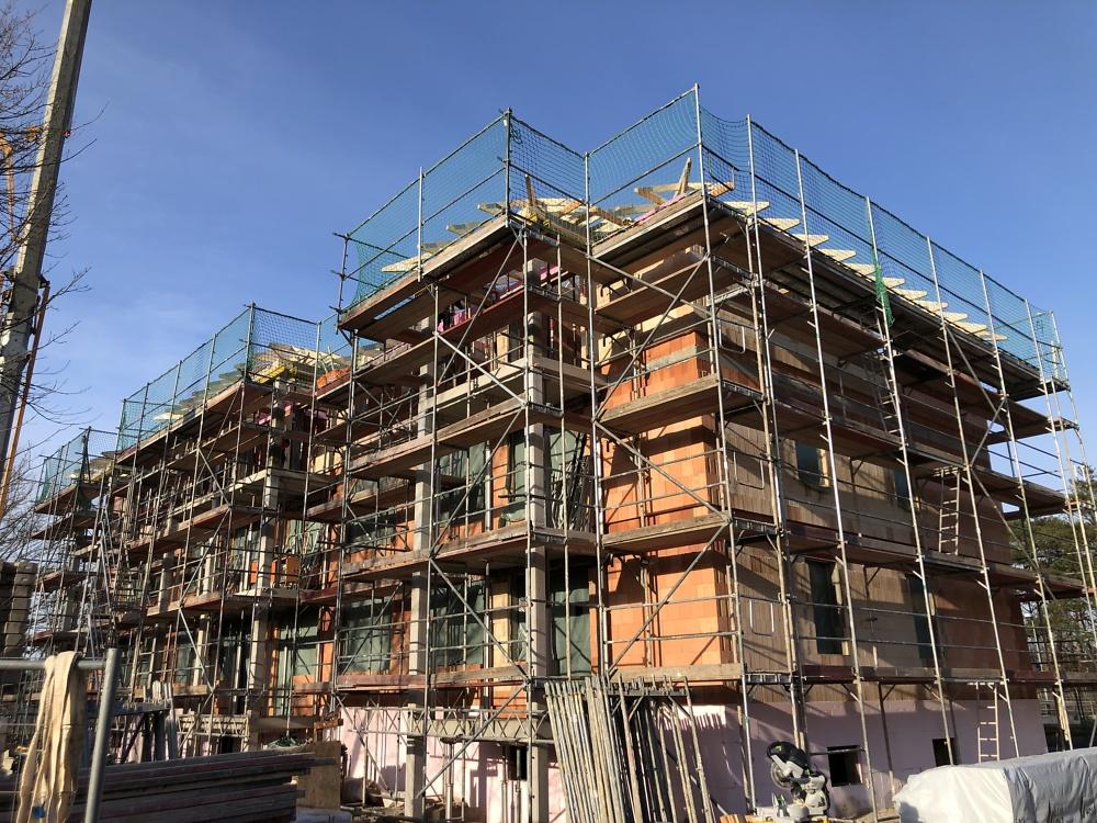 26.01.2021 der Dachstuhl wird errichtet